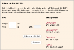 BMI exempel